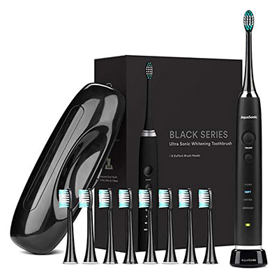 Best Ultrasonic Toothbrushes AquaSonic Black Series Ultra Whitening Toothbrush